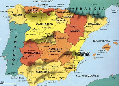 Map Of Spain 1300.Grade 8 Resources